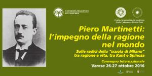 Convegno Piero Martinetti: l'impegno della ragione nel mondo 2016